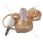 Mono Crystal Earpiece with 3.5mm Jack Plug