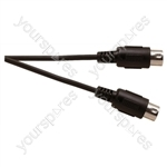 Standard 5 Pin Din Plug To 5 Pin Din Plug Screened Lead