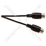 Standard 5 Pin Din Plug To 5 Pin Din Plug Screened Lead