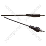 Standard 3.5 mm Mono Jack Plug to Phono Plug Lead