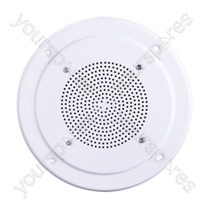"100V Line 8"" Vandal Resistant Round Ceiling Speaker With Metal Grille"