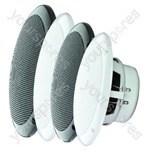 """e-audio 40w 5"""" Round Ceiling Speaker With Dual Moisture Resistant Cone - Impedance (Ohms)  4"""