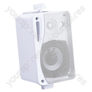 "e-audio 3"" Background Music Speakers With Brackets 80W 4 Ohm - Colour White"