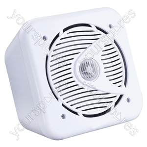 "e-audio 5.25"" 2-Way Mini Box Speakers - Colour White"