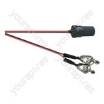 Crocodile Clips to Cigar Socket Power Lead 12V 0.6m