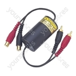 Ground Loop Isolator with Low Level Filter
