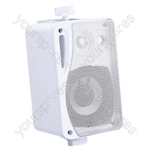 "e-audio 5.25"" Background Music Speakers With Brackets 160W 4 Ohm - Colour White"