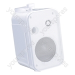 "e-audio 3.5"" 2 Way Mini Speakers (8 Ohms 100 W) - Colour White"