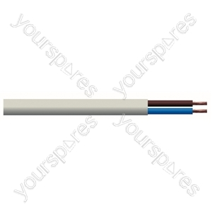 Round 2 Core 1mm PVC Flex 10A 3182Y - Colour White