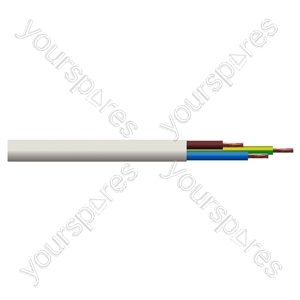 Round 3 Core 0.5mm PVC Flex 3A 2183Y - Colour White