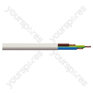 Round 3 Core 0.75mm PVC Flex 6A 3183Y - Colour White