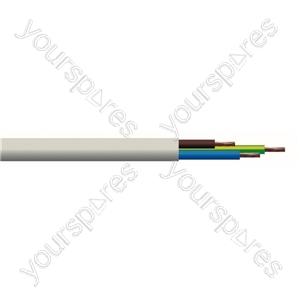 Round 3 Core 1.mm PVC Flex 10 A 3183Y - Colour White