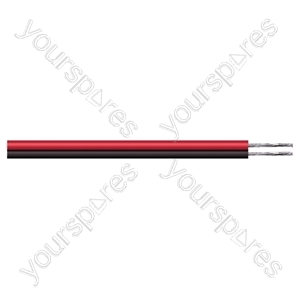 Figure of 8 Black/Red 2 Core Power Cable - Current Rating 3A