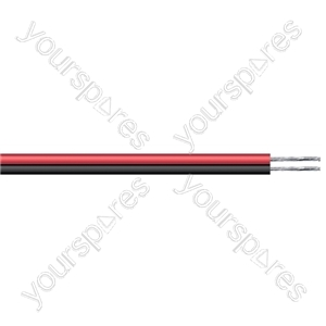 Figure of 8 Black/Red 2 Core Power Cable - Current Rating 25A