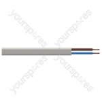 Oval 2 Core 0.5mm PVC Flex 3A 2192Y 100m - Colour White