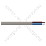 Oval 2 Core 0.75mm PVC Flex 5A 2192Y (100m) - Colour White