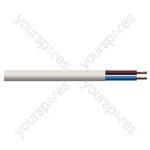 Round 2 Core 0.75mm PVC Flex 6 A 2182Y - Colour White