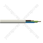 Round 3 Core 0.75mm PVC Flex 6A 2183Y - Colour White