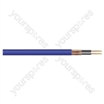 Heavy Duty 2 Core Screened Microphone Cable 100m - Colour Blue