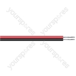 Figure of 8 Black/Red 2 Core Power Cable - Current Rating 15A