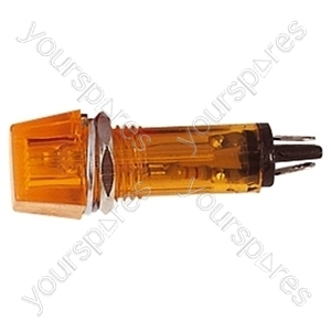 230 V Plastic Neon Indicator - Colour Amber