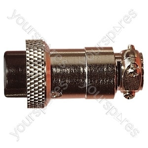 Multi Contact Line Socket with Cable Grip and Solder Terminals - Number of Contacts 2