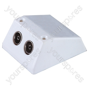 Surface Twin Coaxial TV Twin Outlet