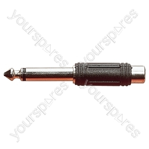 6.35 mm Mono Plug to Phono Socket Adaptor