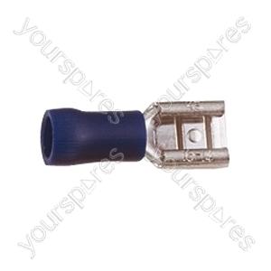 Push On Receptacle Crimp Terminal - Colour Blue