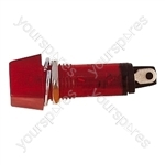 230 V Plastic Neon Indicator - Colour Red