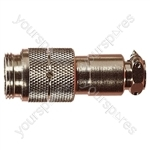 Nickel High Quality Multi Contact Line Plug with Cable Grip and Solder Terminals - Number of Contacts 4