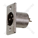 3 Pin XLR Chassis Male with Solder Terminals