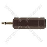 3.5 mm Mono Plug to 6.35 mm Stereo Socket Adaptor