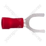 Spade Crimp Terminal - Colour Red