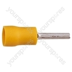 Pin Crimp Terminal - Colour Yellow