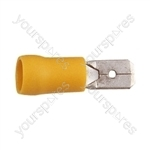 Blade Crimp Terminal  - Colour Yellow