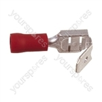 Push On Piggy Back Crimp Terminal    - Colour Red