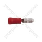 Male Bullet Crimp Terminal  - Colour Red
