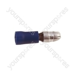 Male Bullet Crimp Terminal  - Colour Blue