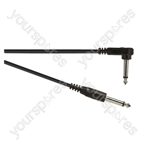 Standard Right Angled Guitar Lead  With Straight Cable 3m