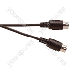 Professional 5 Pin Din to 5 Pin Din Midi Lead with Screened Cable - Lead Length (m)