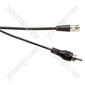 Standard BNC Plug to Phono Plug Lead