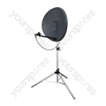 Large Height Adjustable (1201-1715 mm) Silver Satellite Stand