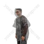 Single Use Raincoat (Poncho Style)