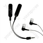 Deluxe Audio Splitter & Earphones