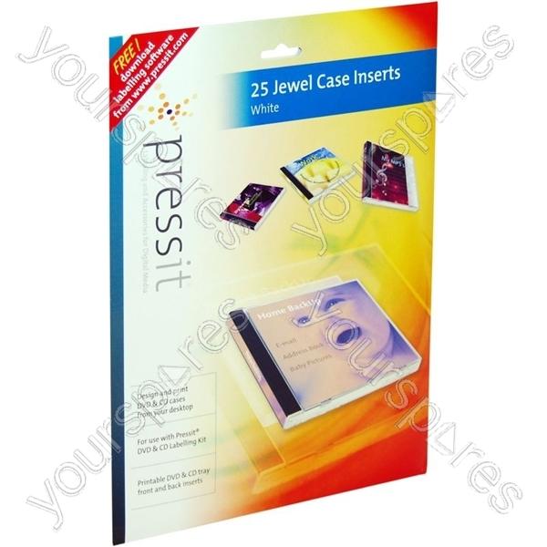 Printing Cd Case Insert: PressIt A4 Jewel Case Inserts (25 Normal/50 Slim