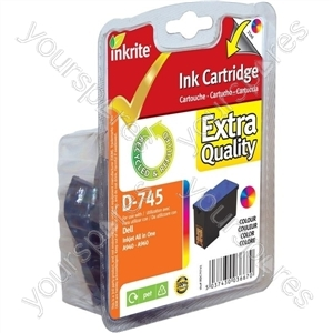 Inkrite NG Ink Cartridges for Dell A940 A960 - 7Y745 Color