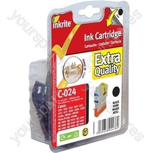 Inkrite NG Printer Ink for Canon i250 i350 i4xx S200 S300 BJC 2000 4000 - BCI-24BK Blk (Crab)