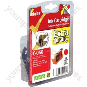 Inkrite NG Printer Ink for Canon i990 i9950 - BCI-6R Deep Red (Elephant)