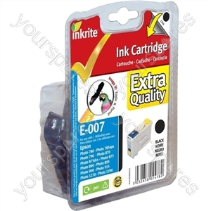 Inkrite NG Printer Ink for Epson 790 870 875 890 895 900 915 1270-90(s) - T007 Black (Eagle)